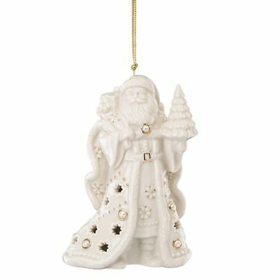Lenox Florentine and Pearl Santa Christmas Ornament New in Box MSRP $60