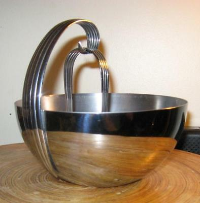 Vintage CHASE Chrome RUSSELL WRIGHT ArT DEco Ice Bowl W Tongs