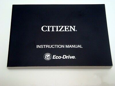 Citizen Eco Drive Watch Instruction Manual New 800 Picclick Uk