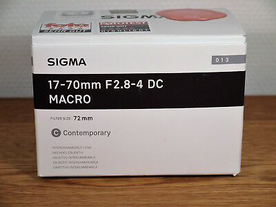 Sigma 17-70mm F2.8-4 DC Macro Contemporary Sigma Mount neuwertig / near mint