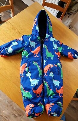 NEXT boys dinosaur snowsuit 12-18 Months