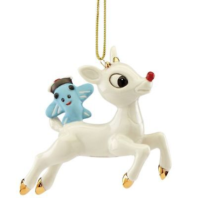 Lenox Lift Off Rudolph Christmas The Red Nosed Reindeer Ornament New MSRP $60
