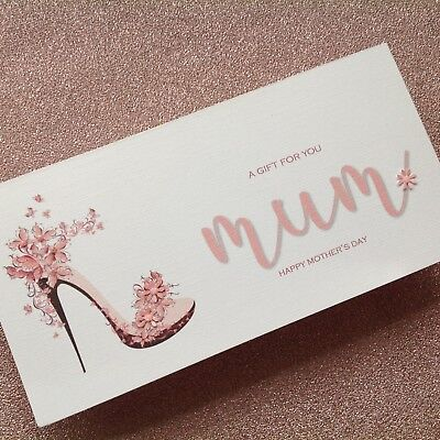 Personalised Handmade Money/Voucher/Gift Card Wallet MOTHER'S DAY MUM BIRTHDAY