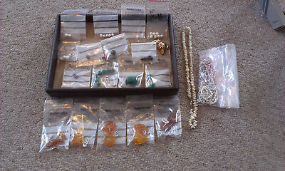 Mixed lot of amber, pearls and other beads