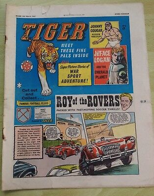 Tiger Comic 16th March 1963 with Roy of the Rovers
