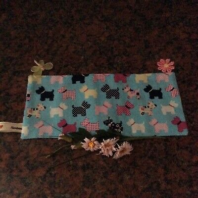 Handmade Scottie Dog Print Fabric Lavender Filled Yoga Relaxation Eye Pillow