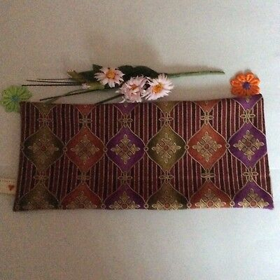 Handmade Abstract Indian Print Fabric Lavender Filled Yoga Relaxation Eye Pillow