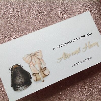 Personalised Handmade Money/Voucher/Gift Card Wallet WEDDING DAY CONGRATULATIONS