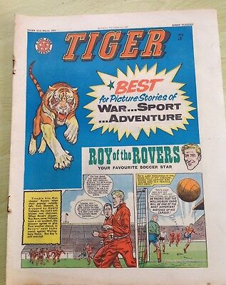Tiger Comic 23rd March 1963 with Roy of the Rovers