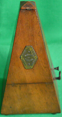 Excellent mid 19th century Maelzel walnut metronome