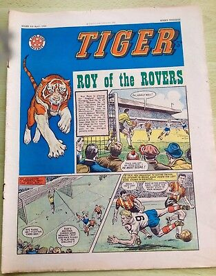 Tiger Comic 6th April 1963 with Roy of the Rovers