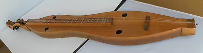 "4 String Dulcimer, beautiful wood, unknown maker, 41"" long musical instrument"