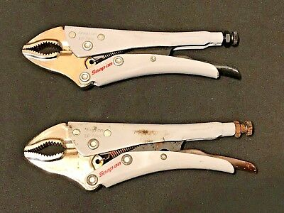 2 Snap On Lp7Wr Locking Pliers, Curved Jaw With Cutter, 7 Inches Long