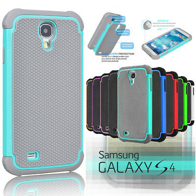 Hybrid Rugged Rubber Defender Impact Hard Case Cover For Samsung Galaxy S4 I9500