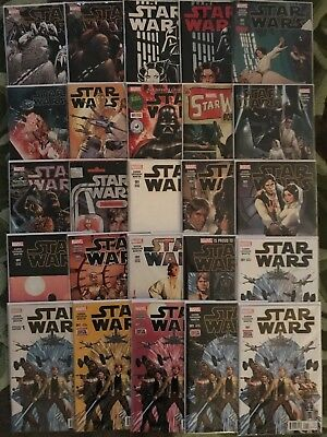 Star Wars #1 25 Book Collection VF/NM including some rare covers (1 Good/fine)