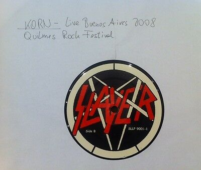 "KORN ""live Quilmes Rock Festival"" LP MEGA RAR mit SLAYER LABELS Limp Bizkit"