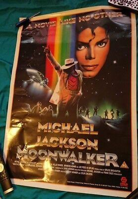 michael jackson moonwalker video poster very rare