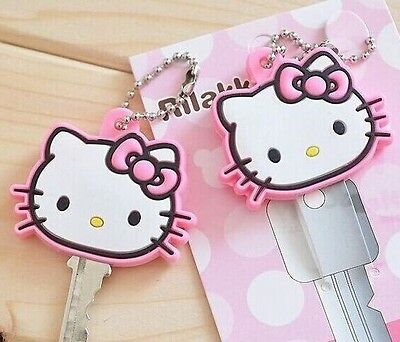 Hello Kitty. Rubber KEY Wallet Holder Hook Cap Case Cute Key Chain..