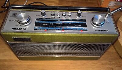 Roberts R606MB Radio (Green leather)