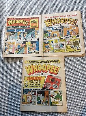 3 WHOOPEE! Comic issue 5th, 12th Jan & 16th Feb 1980 - UK Paper Comic