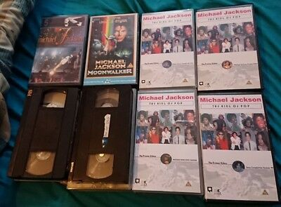 michael jackson joblot of 8 videos rare