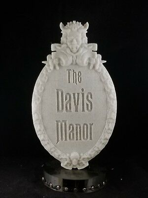 Personalized Haunted Mansion Inspired Prop Sign / Plaque Replica - Marble Shade