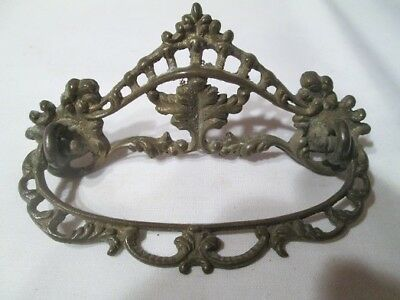 "Antique Vintage Brass Ornate Drawer Pull Handle - 4"" Across"