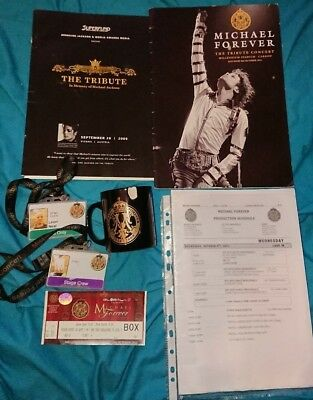 michael jackson michael forever memorabilia and the tribute concert  pressbook
