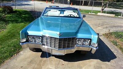 1969 Cadillac DeVille White Leather, Black Dash cadillac convertible