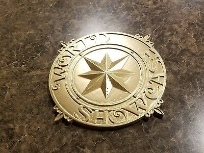 Full Scale World Showcase Medallion Inspired Plaque Prop Replica - Shined Gold
