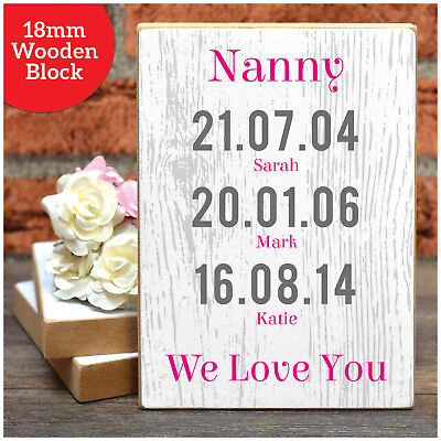 Birthday Gifts For Nanny Nan Granny Mum PERSONALISED DATES BIRTH Christmas