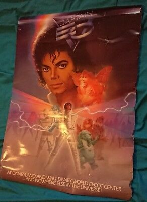 michael jackson captain eo 1986 poster very rare