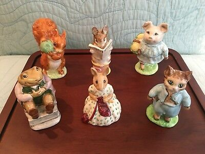 Beatrix Potter - Peter Rabbit- Collectable Figurines - Lot of 6