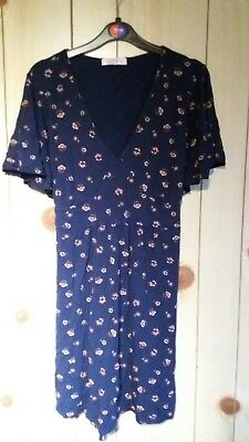 Heavenly Bump Navy Floral Maternity Top/ Tunic, Size 18