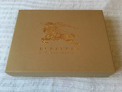 📦* Burberry London Authentic Empty Box For Jumper/ Scarf 34 X 25 X 6Cm New