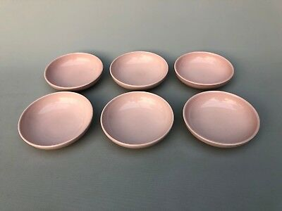 6 Mid century Russel Wright Iroquois Casual China Soup/Cereal Bowls Pink
