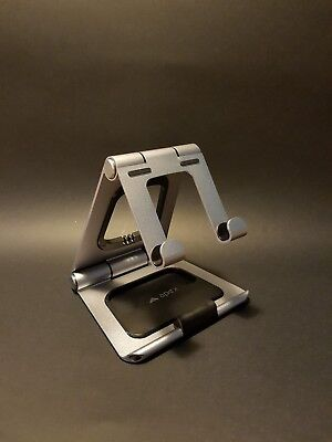 Foldable laptop stand, lightweight, with phone stand, case and cable organiser