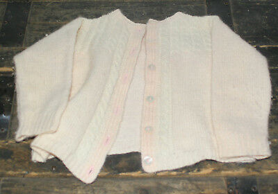 Vintage Handmade Knit Light Pink Infant Sweater size 3-6 months