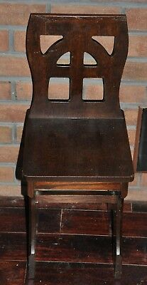 Vintage Charles Limbert Cut Out Child's Chair Oak Mission Arts Crafts