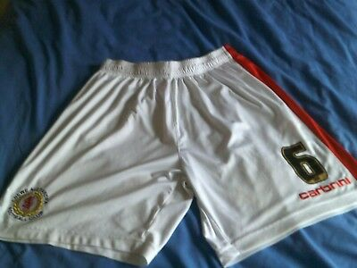 Crewe Alexandra Carbrini white football shorts, player worn/issue.