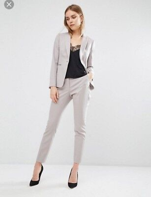 Reiss womens suit soft grey nude uk 10 worn once rrp£350
