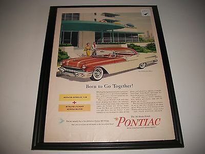1956 Pontiac Star Chief Catalina Original Print Ad Garage Art Collectible