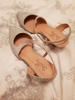 Beautiful Sparkly Wedding Shoes Size 5