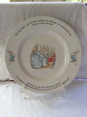 """Peter Rabbit Child's Wedgewood Dinner Plate 9.75"""" pre owned"""