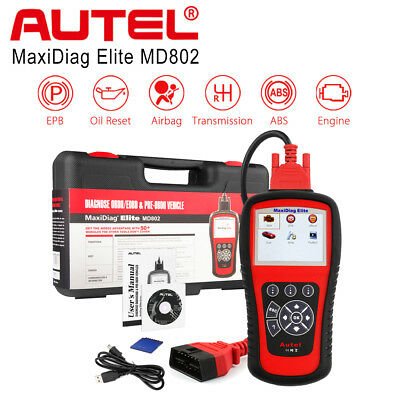 Autel MD802 OBD2 Auto Diagnostic Scan Tool ABS Airbag SRS Code Reader Scanner