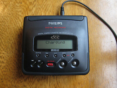 Philips DCC 170 Digital Compact Cassette Recorder for repair or spares. + Manual