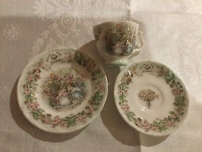 Royal Doulton Brambly Hedge Summer Miniature Cup,Saucer & Plate.