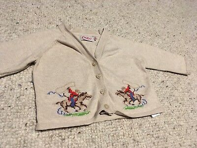 Baby Girls/Boys Cath Kids Kidston Cowboy Cardigan. 6-12 Months Perfect Condition