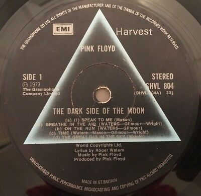 Pink Floyd - Dark Side Of The Moon (A3/b2 Gramophone Rimtext/blue Tint Cover)