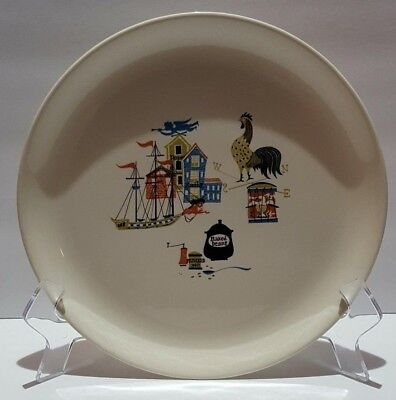 "Vintage 1950's Salem China 9 1/2"" Dinner Plate Old Gloucester Pattern Rooster B"